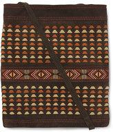 Toms Chocolate Multi Woven Suede Postscript Crossbody Bag