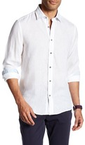 Report Collection Modern Fit Linen Shirt