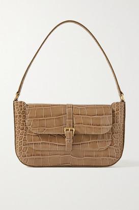 BY FAR Miranda Croc-effect Leather Shoulder Bag - Taupe
