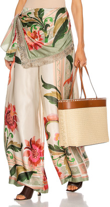 PatBO Drape Front Pant in Sand Multi | FWRD
