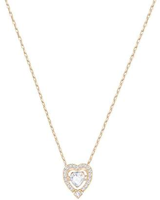 Swarovski Sparkling Dance Heart Necklace, White, Rose gold plating