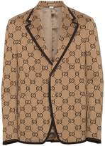 Gucci GG logo jersey jacket