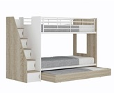 Cruz Trio Single Bunk Bed & Shelves
