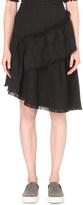 Izzue Raw edge tweed skirt