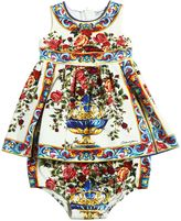 Dolce & Gabbana Maiolica Interlock Dress & Diaper Cover