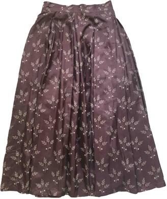 Kenzo Brown Silk Skirt for Women