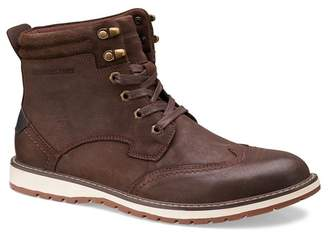 Members Only Wingtip Leather Lug Sole Boot