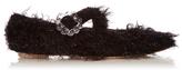Simone Rocha Cross-strap tinsel flats