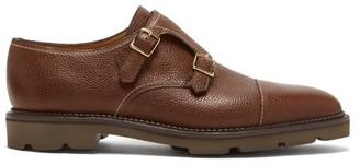 John Lobb William Monk-strap Leather Shoes - Dark Brown