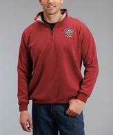 Stetson Red Half-Zip Sweatshirt - Men's Regular
