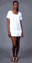 White Cotton Mini Dresses by Trinity