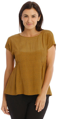Trent Nathan Woven Front Tee
