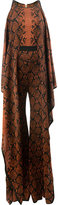 Balmain snake print jumpsuit - women - Viscose - 38