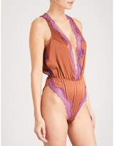 Elle Macpherson Body Soie lace and stretch-silk teddy