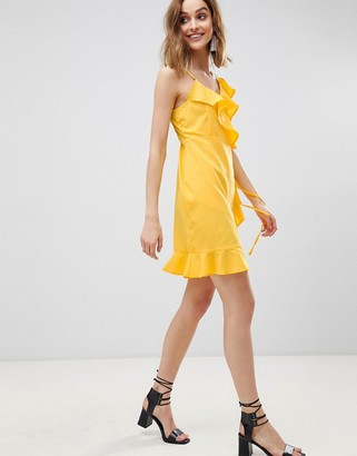 Vero Moda Wrap Ruffle Mini Dress