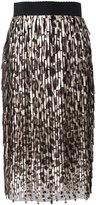 Dolce & Gabbana leopard print midi skirt - women - Polyester - 40