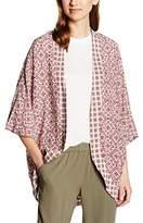 B.young B. Young Women's Juliette kimono All Over Print 3/4 Arm Blazer