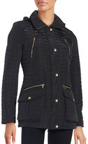Michael Kors Sherpa-Trimmed Quilted Coat