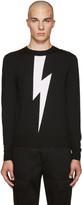Neil Barrett Black Thunderbolt Sweater