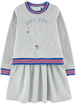 Jean Bourget Embroidered sweatshirt dress