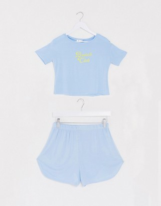 Adolescent Clothing brunch club t-shirt and short pyjama set