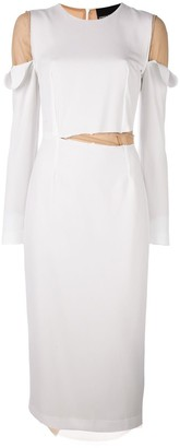 Erika Cavallini 'Gillian' long sleeve dress