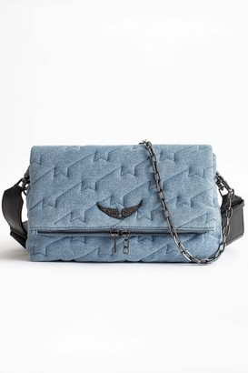 Zadig & Voltaire Rocky ZV Quilted Jeans Bag