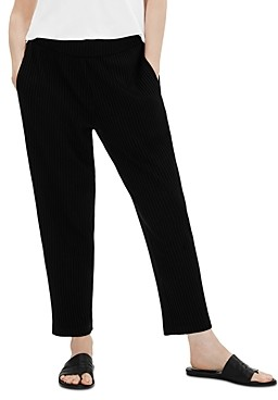 Eileen Fisher Shirred Waist Ankle Pants