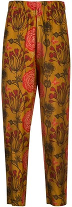 UMA WANG Floral Print Elasticated Trousers