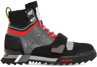 Off-White Leather Sneaker Hiking Boots