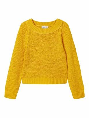 Name It Girls' NKFKORRY LS Short Knit Sweater