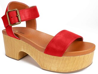 Seven Dials Women's Wayne Heeled Sandal red/Burnished/Smooth 9 M US