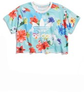adidas Girl's Flower Crop Tee