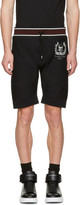 Alexander McQueen Black Skull Crown Shorts
