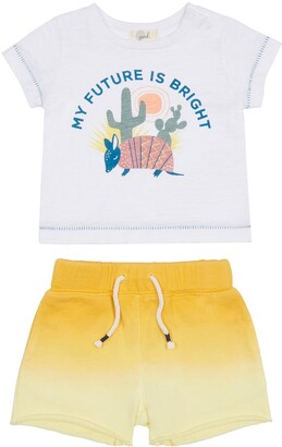 Peek Aren't You Curious Aldenn Future is Bright Graphic Tee & Shorts Set