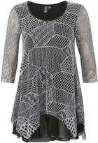Izabel London **Izabel London Grey Tunic