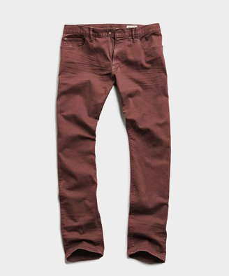 Todd Snyder Slim Fit 5-Pocket Garment-Dyed Stretch Twill Chino In Redwood