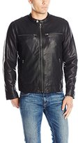 Lucky Brand Men's Adison Faux Leather Moto Jacket