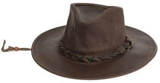 Minnetonka Western Hat Adult Airflow Fold Up Outback Black 9539