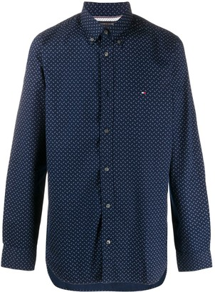 Tommy Hilfiger Long Sleeve Embroidered Logo Shirt