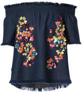 Tanya Taylor embellished floral blouse