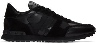 Valentino Black Garavani Camo Rockrunner Sneakers