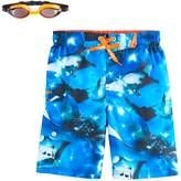 ZeroXposur Boys 4-7 Sting Rays Swim Trunks with Goggles