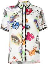 Kenzo Visage shirt - women - Silk/Linen/Flax - 38