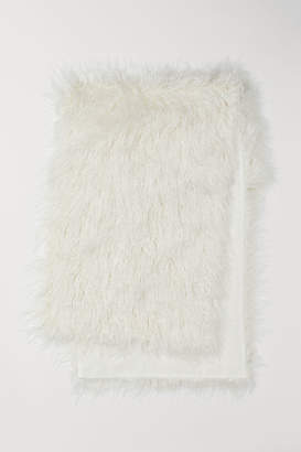 H&M Faux Fur Bed Runner - White