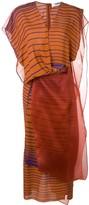 Chalayan layered organza striped dress