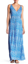 Clayton Andrea Surplice Neck Maxi Dress