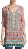 Tolani Evie Long Printed Tunic, Rose