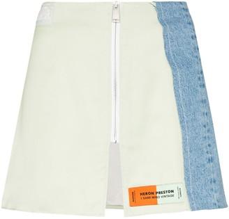 Heron Preston x Sami Miro panelled zip mini skirt