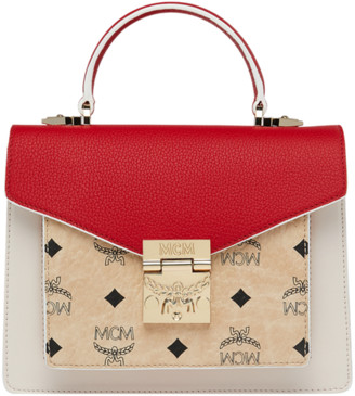 MCM Patricia Satchel in Visetos Leather Block